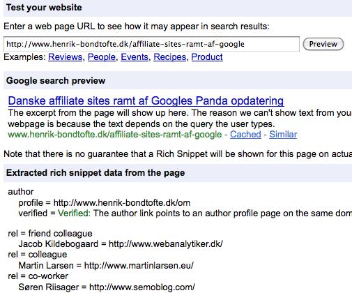 Verificeret Google forfatter