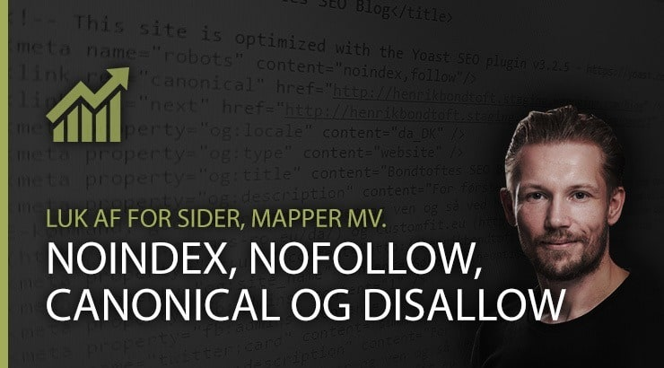 Noindex, nofollow, canonical og disallow