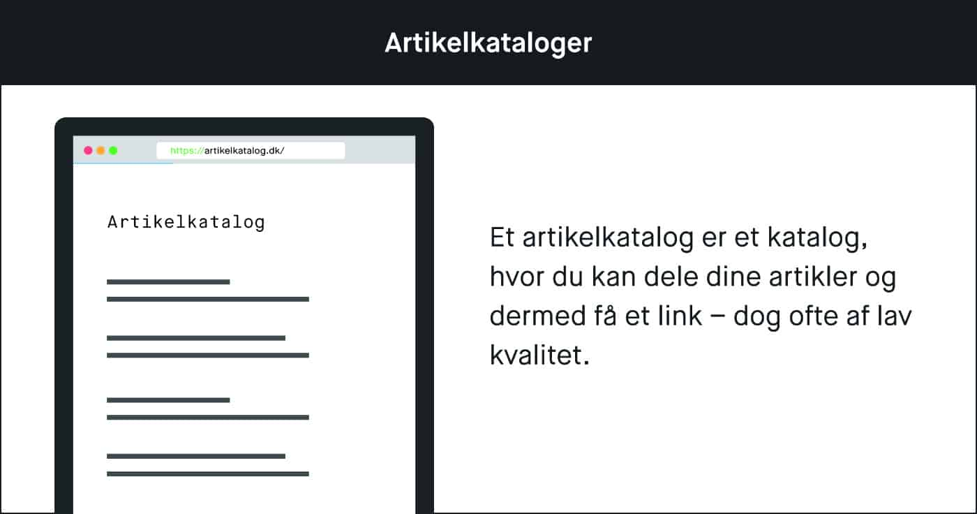 Et artikelkatalog er et katalog, hvor du kan dele dine artikler.